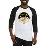 Night Flight/2 Pomeranians Baseball Jersey