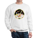 Night Flight/2 Pomeranians Sweatshirt