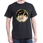 Night Flight/2 Pomeranians Dark T-Shirt