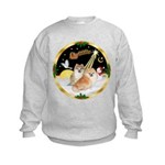 Night Flight/2 Pomeranians Kids Sweatshirt