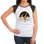 Night Flight/Dachshund #11 Women's Cap Sleeve T-Sh