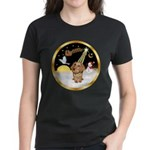 Night Flight/Dachshund #11 Women's Dark T-Shirt