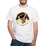 Night Flight/Dachshund #13 White T-Shirt