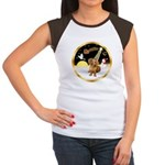Night Flight/Dachshund #13 Women's Cap Sleeve T-Sh