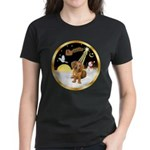 Night Flight/Dachshund #13 Women's Dark T-Shirt