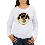 Night Flight/Dachshund #13 Women's Long Sleeve T-S