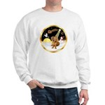 Night Flight/Dachshund #13 Sweatshirt
