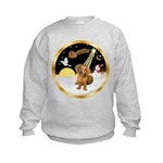 Night Flight/Dachshund #13 Kids Sweatshirt