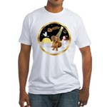 Night Flight/Dachshund #13 Fitted T-Shirt