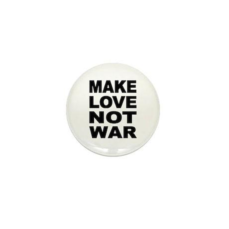'Make Love Not War' Mini Button (10 pack)