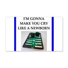Backgammon joke Wall Decal