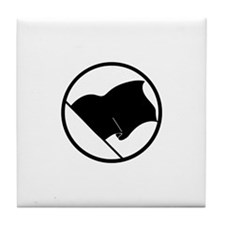 Anarchist's Flag Tile Coaster