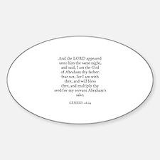 GENESIS 26:24 Oval Decal