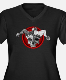 Dead Jester Women's Plus Size V-Neck Dark T-Shirt