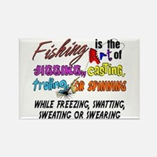 The Art of Fishing Rectangle Magnet