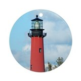 Florida christmas Round Ornaments