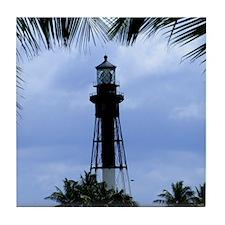Hillsboro Inlet Lighthouse Tile Coaster
