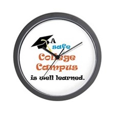 A Safe College Campus Wall Clock