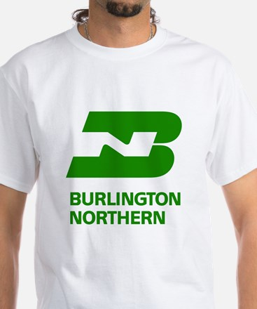 Burlington Northern White T-Shirt