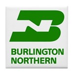 Burlington Northern Tile Coaster