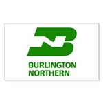 Burlington Northern Rectangle Sticker 10 pk)