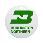 Burlington Northern Round Ornament