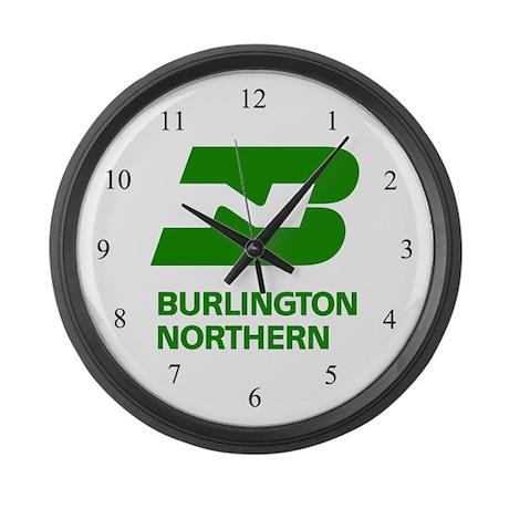 Burlington Northern Large Wall Clock