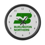 Burlington Northern Large Wall Clock