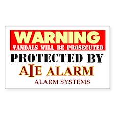 AIE Alarms Rectangle Decal