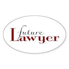 Future Lawyer Oval Sticker (10 pk)