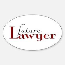 Future Lawyer Oval Sticker (50 pk)