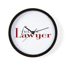 Future Lawyer Wall Clock