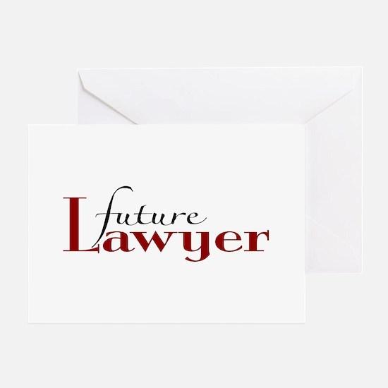 Future Lawyer Greeting Card