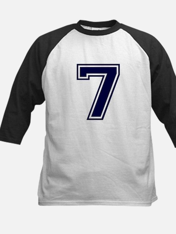 NUMBER 7 FRONT Kids Baseball Jersey