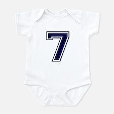 NUMBER 7 FRONT Infant Bodysuit