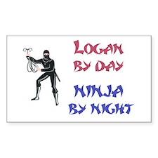 Logan - Ninja by Night Rectangle Decal