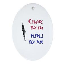 Charlie - Ninja by Night Oval Ornament