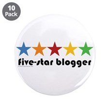"""5 Star Blogger 3.5"""" Button (10 pack)"""