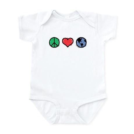 Peace, Love, Earth Infant Bodysuit