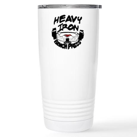 Heavy Iron Bench Press Stainless Steel Travel Mug