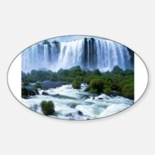Scenic High Falls Wawa Canada Oval Decal