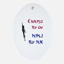 Christian - Ninja by Night Oval Ornament