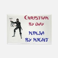 Christian - Ninja by Night Rectangle Magnet