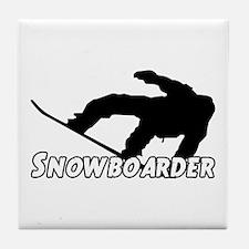 Snowboarder Tile Coaster