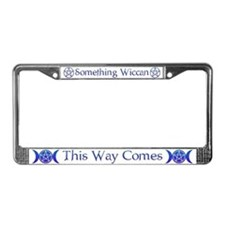 Cute Witch License Plate Frame