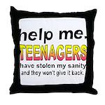 Stolen Sanity Throw Pillow