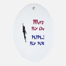Matt - Ninja by Night Oval Ornament