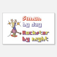Simon - Rock Star by Night Rectangle Decal