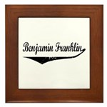Benjamin Franklin Framed Tile