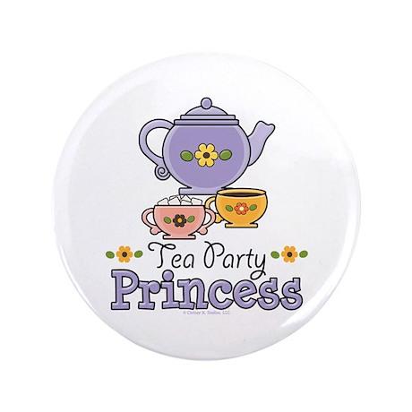 """Tea Party Princess 3.5"""" Button"""